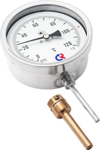 Термометр биметаллический радиальный БТ-52